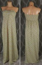 Morgan beige gold bandeau maxi dress size S