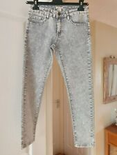 Girl's Forever 21 Grey Faded Stretchy Jeans, Age 11/12 Years, Waist 28'',  NWT