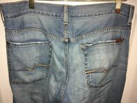 7 For All Mankind Men's Medium Wash Extra Long Boot Cut Denim Jeans 33 x 34