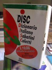 DISC - DIZIONARIO ITALIANO SABATINI COLETTI ed. Giunti 1997