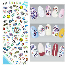 Nail Art Water Transfer Decal Manicure Sticker Letters Star Eye Theme Accessory