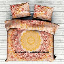 Indian Mandala Decor Duvet Quilt Cover Cotton Doona Set Bohemian Queen Bedspread