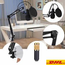 -800 Pro Kondensator Mikrofon Microphone Set mit ArmStänder Halter für Studio