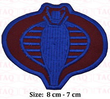 GI Joe Cobra Commander Small Fully Embroidered badge applique #063