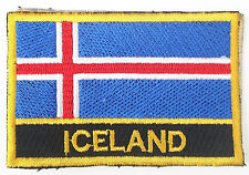Iceland Embroidered Sew or Iron on Patch Badge