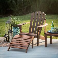 Wood Seat Adirondack Chair Foldable Patio Lawn Deck Garden Furniture Back Rest