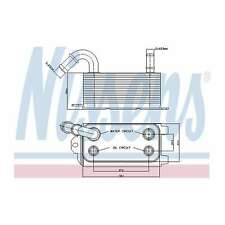 Fits Ford C-Max MK1 2.0 TDCi Genuine Nissens Automatic Gearbox Oil Cooler