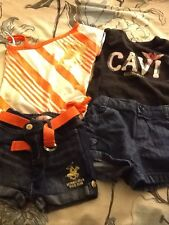7 Piece Girl Lot 24 Months Summer Romper Dress Outfits Rocawear Cavi Polo Club