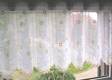 Scheibengardine Bistrogardine Schmetterlinge Plauener spitze 45 Cm hoch