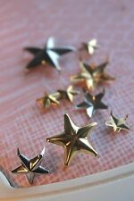"""Tack, Punk, Patriot 3/4"""" Solid Brass Star Spot- 10 Piece Package"""