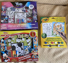 Disnet Mickey Mouse, Trolls, And Crayola Art And Crafts Set, Brand New