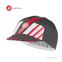 NEW 2020 Castelli HORS CATEGORIE Cycling Cap : DARK GREY/RED - One Size