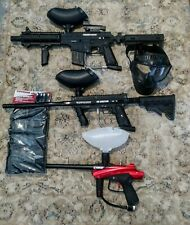 Tippman Project Salvo, 98 Custom with etrigger and Cybrid paintball gun lot.