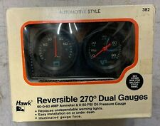 Nos Vintage Reversible Oil Pressure & Amps Dual Gauges 0-80 Psi With Panel chevy