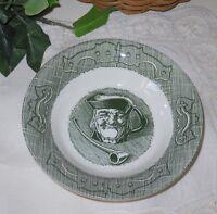 Vintage Old Curiosity Shop Green bowl man pipe currier & ives #10-23