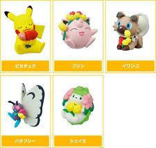 TOMY Pokemon Pokapoka Biyori Mini Figure Gashapon x5 Butterfree Shaymin