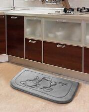 Gray Coffee Memory Foam Anti Fatigue Kitchen Floor Mat Rug Victoria Classics