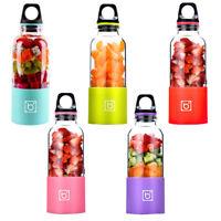 500ml Camping USB Electric Fruit Juicer Smoothie Maker Blender Shaker Cup Mug