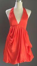 NWT Orange WAYNE COOPER Drape Mini Dress Size 8/10 **SAMPLE** FREE POST!