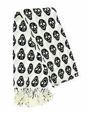 Womens Halloween Fashion Skull Scarf Black Skull Heads Costume Woman Girls