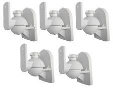 5 Pack Lot - Universal Satellite Speaker White Wall Mount Brackets fits JVC Bose