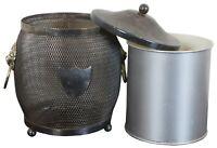 "English Silverplated Lion Head Shield Tea Caddy Biscuit Barrel Jar Ice Bucket 8"""