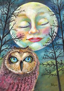 Toland Moonlit Owl 28 x 40 Inch House Flag