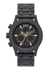 Nixon 38-20 Chrono Watch (All Black / Rose Gold)