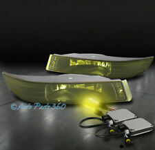 00-05 CHEVROLET IMPALA BUMPER DRIVING FOG LIGHT LAMP YELLOW LENS W/3000K HID KIT
