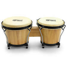 """More details for mad about 6"""" & 7"""" wooden bongo drums – beginners oak bongos in natural"""
