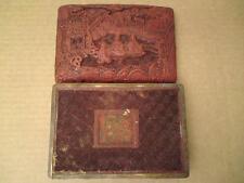 18th-19th CENTURY CHINESE cinnabar lacquer box carved figure scène de sages