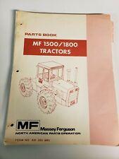 Massey Ferguson 1500 1800 Tractor Original Parts Manual Catalog