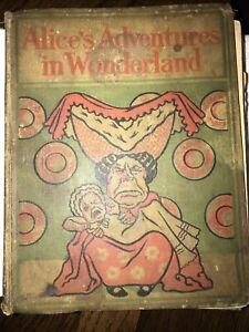 Antique1897 Alice's Adventures in Wonderland HC book color illustrated RARE