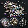 Multi-size Rhinestones 3D Crystal AB Clear Stones Gems Diy Nail Art Decoration C