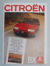 PROSPEKT CITROEN BX Berlina e Break con GTI 16v, 7.1987, 44 pagine