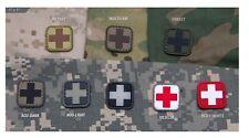 "Milspec Monkey MSM Morale PVC Patch - MEDIC CROSS - 1"" x 1"" - Choose Color Below"