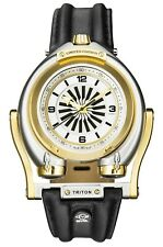 Gv2 By Gevril Men's 3403 Triton Automatic Limited Edition Black Leather Watch