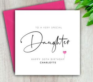 Daughter Birthday Card, To A Very Special Daughter, Handmade Personalised