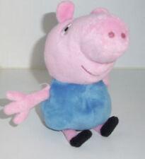 "PEPPA GEORGE PIG PLUSH SOFT TOY DOLL 7"" TALL****VGC"