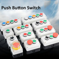 PUSH BUTTON START STOP STATION REMOTE STARTER CONTROL GREEN RED SWITCH