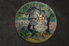 Painted Copper Wall Hanging Plate Dancers Plaque Chile