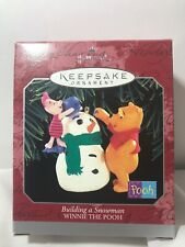 Hallmark Building a Snowman Winnie the Pooh Piglet Ornament in Original Box NOS