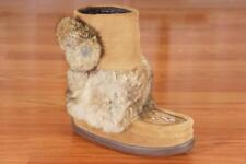 MANITOBAH MUKLUKS CHESTNUT SNOWY OWLETTE MID-CALF BOOTS SHOES 1