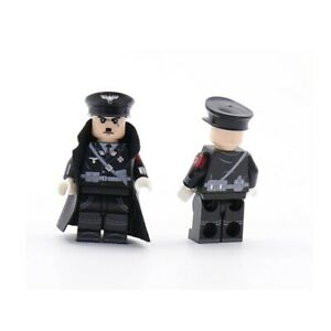 Lego ww2 Soldat Allemand Officier Figurine Militaire Commandant german guerre