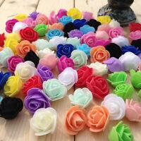500 Pcs PE Foam Rose Flower Head Artificial 11 Colors Wedding Decor Craft 3cm