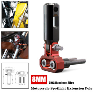 8MM Motorcycle Front Bumper Shock Spotlight Extension Pole Fog Headlight Bracket