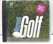 VTG Microsoft Golf Multimedia Edition CD PC Game 1993 Original CIB B3 FREE SHIP!