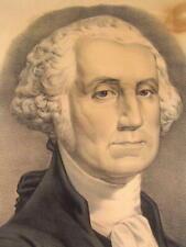 President George Washington Currier & Ives c. 1855 antique portrait print
