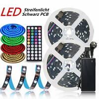 1M-30M LED Streifenlicht 5050 SMD RGB Lichtband Schwarze Fernbedienung Netzteil