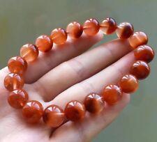 10mm Rare Natural Red Rabbit hair Quartz Crystal Round Beads Bracelet AAAA